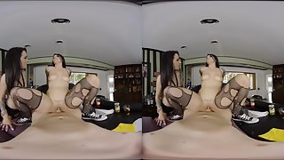 Katrina Jade and Dallas Black serve you drinks at the bar and blowjobs